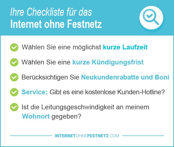 Internet ohne Festnetz Details