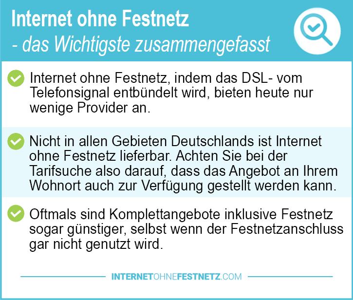 Internet ohne Festnetz