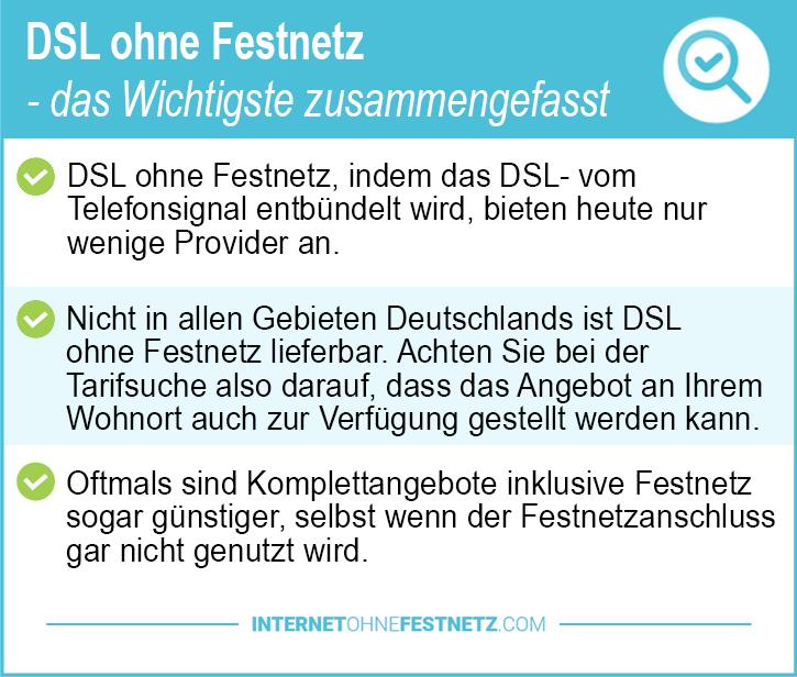 DSL ohne Festnetz