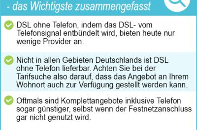 DSL ohne Telefon 2020 – wird das noch angeboten? Jetzt Top Angebote sichern!