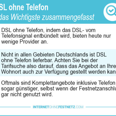 DSL ohne Telefon 2018 – wird das noch angeboten? Jetzt Top Angebote sichern!