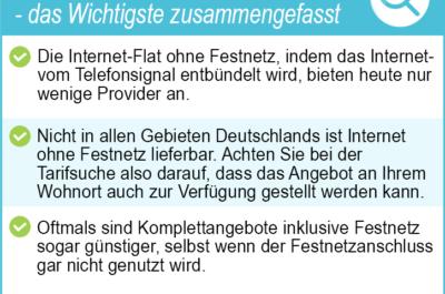 Internet Flat ohne Festnetz 2021 – die besten Internet Flatrate Anbieter im Test