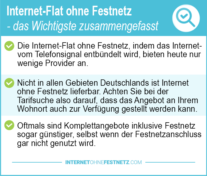 Internet Flat ohne Festnetz