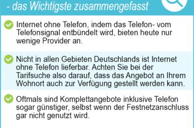 Internet ohne Telefonanschluss 2020 – Die besten Anbieter und Tarife im Test