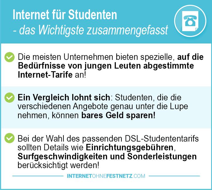 Internet ohne Vertrag für Studenten