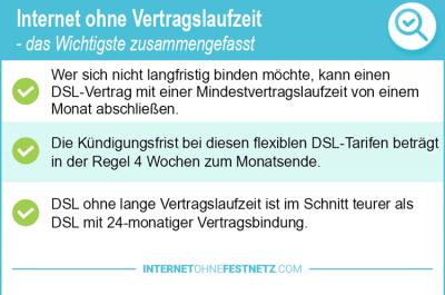 Internet ohne Vertragslaufzeit 2020 – so bleiben Sie Flexibel