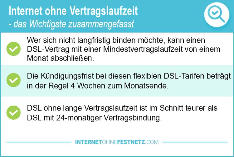 Internet ohne Vertragslaufzeit