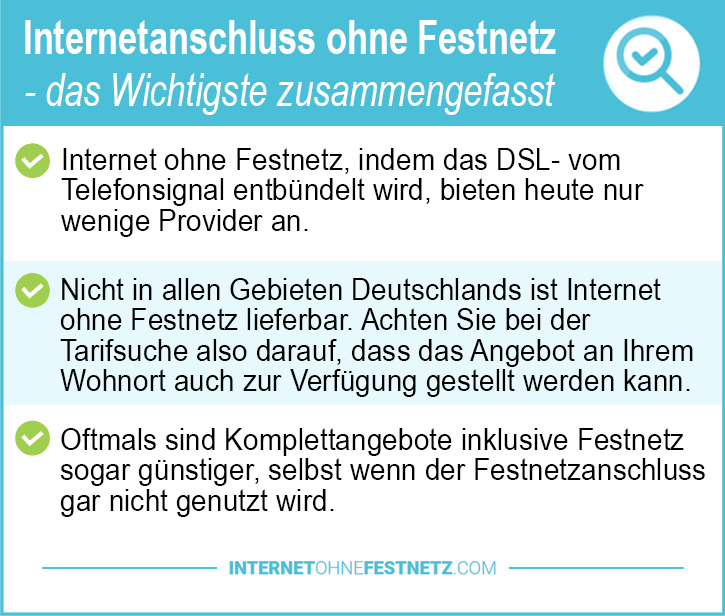 Internetanschluss ohne Festnetz