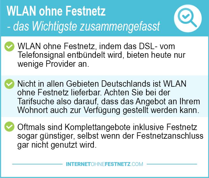 WLAN ohne Festnetz
