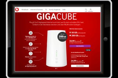 Gigacube Internet 2020 – Varianten von Vodafone, Telekom, O2 und Congstar im Vergleich