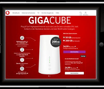 Gigacube Internet 2019 – Varianten von Vodafone, Telekom, O2 und Congstar im Vergleich